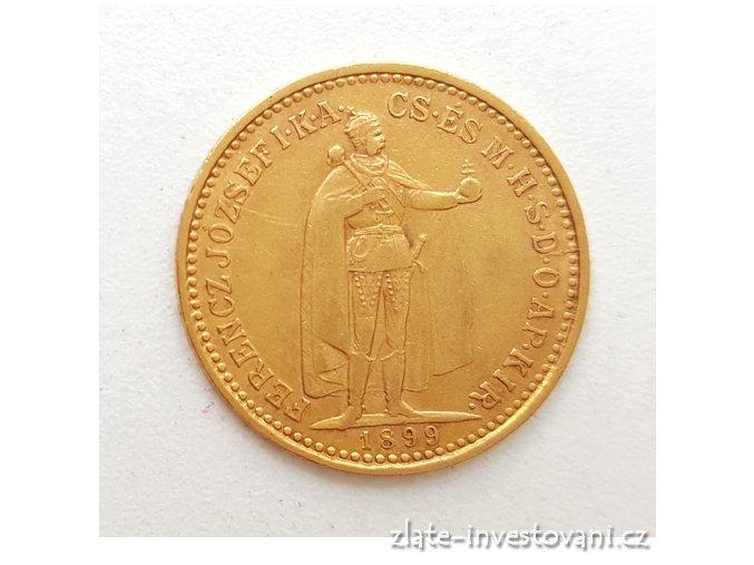 5528 zlata mince desetikoruna frantiska josefa i uherska razba 1899 k b