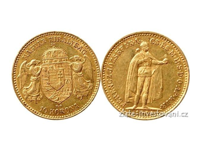 5537 zlata mince desetikoruna frantiska josefa i uherska razba 1901 k b