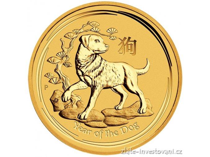 Investiční zlatá mince rok Psa 2018 1 Kg