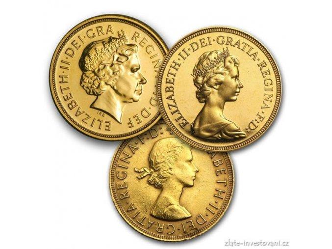 Investiční zlatá mince  britský Sovereign -ročníkový