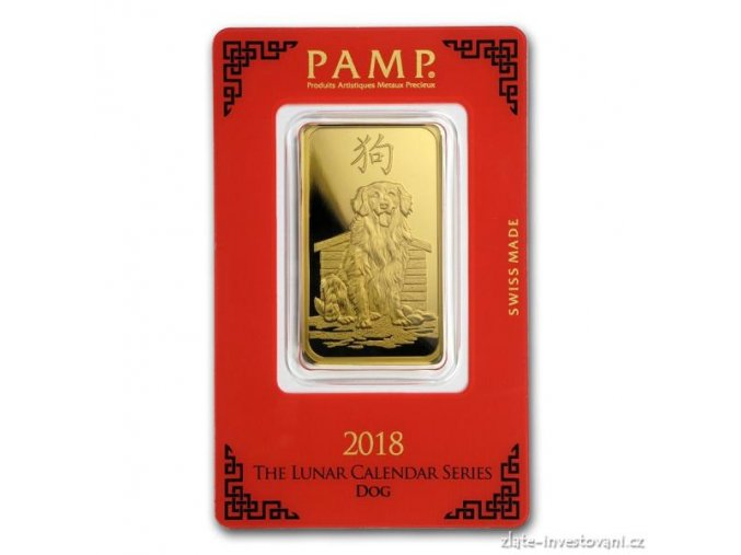 5903 investicni zlata cihla pamp rok psa 2018 1 oz