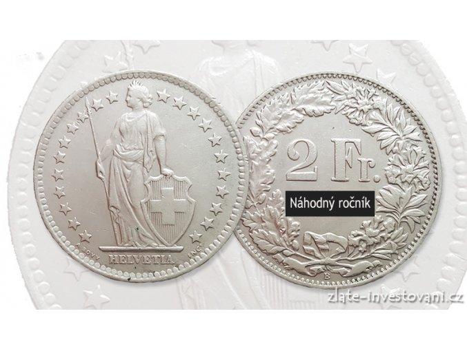 6266 stribrny 2 frank svycarsko helvetia