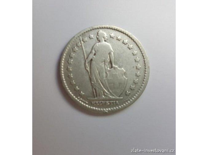 6572 stribrny 1 frank svycarsko 1907 b