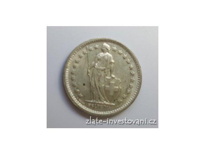 6575 stribrny 1 2 frank svycarsko 1875 1967
