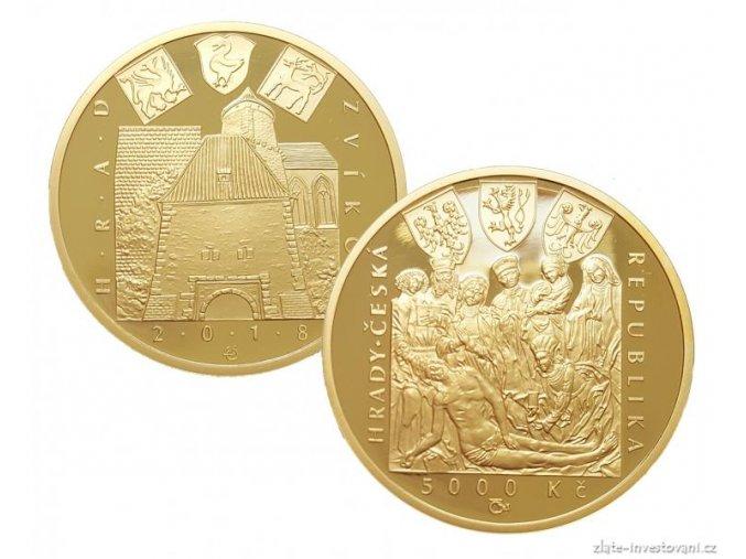 6626 zlata mince hrad zvikov 2018 serie hrady bezna kvalita 1 2 oz