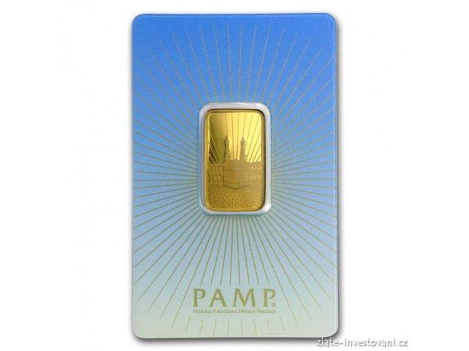Investiční zlatý slitek Mekka-PAMP 10g