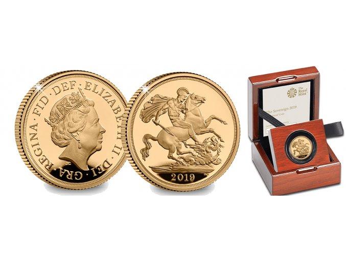 Zlatý britský Sovereign 2019-Proof
