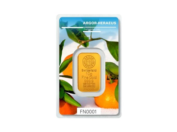 Investiční zlatý slitek Argor Heraeus-Zima 2018 limitovaná edice 10g