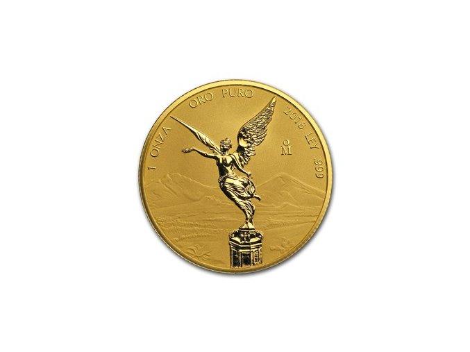 Investiční zlatá mince Libertad reverzní proof 2018-Mexiko 1 Oz