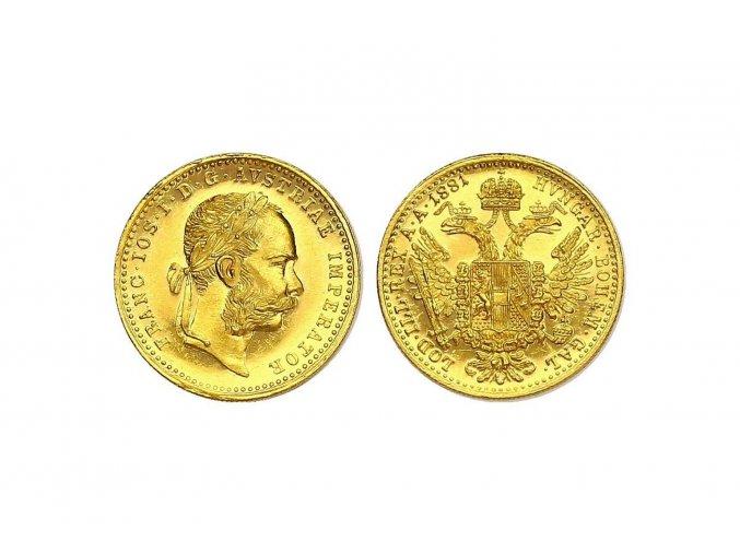 Zlatý dukát Františka Josefa I.-1871