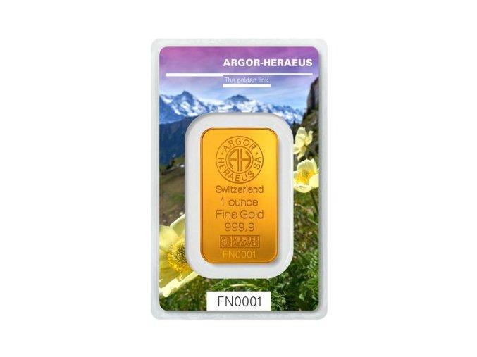 Investiční zlatý slitek Argor Heraeus-Jaro 2019 limitovaná edice 1 Oz
