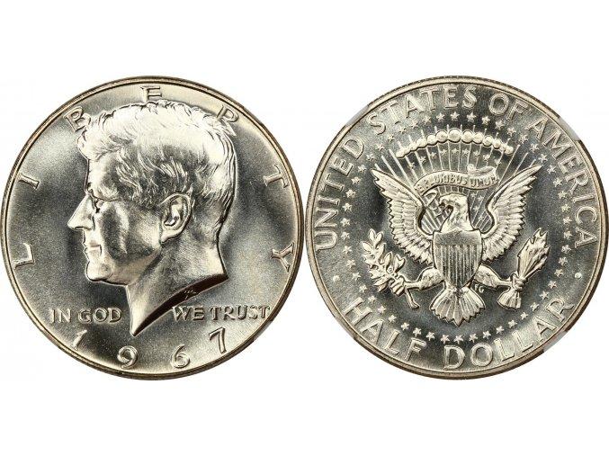 US half dollar J.F. Kennedy 1967