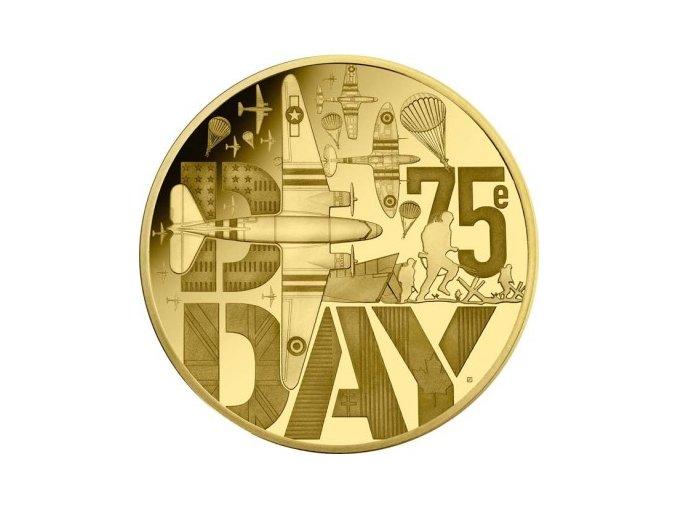Zlatá mince D-Day 75. výročí vylodění v Normandii-2019