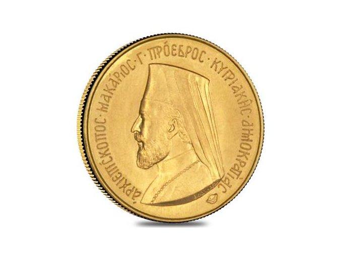 Zlatý kyperský Sovereign 1966-Makarios III.