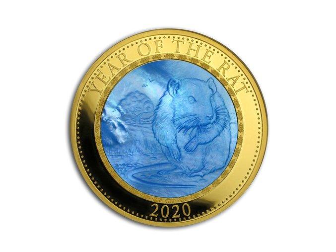 Zlatá mince rok krysy 2020-5 Oz s perletí Proof