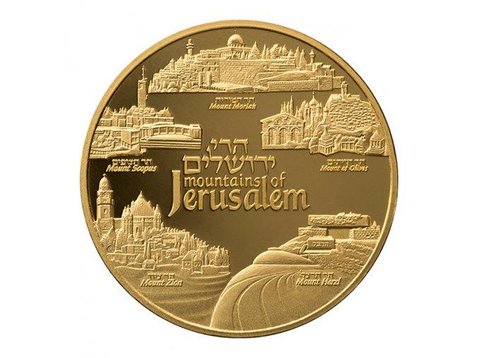 Zlatá mince Mountains of Jerusalem -série Views of Jerusalem 2019 1 Oz