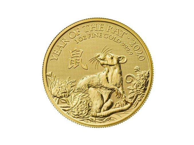 Zlatá mince rok Krysy 2020 1 Oz Velká Británie