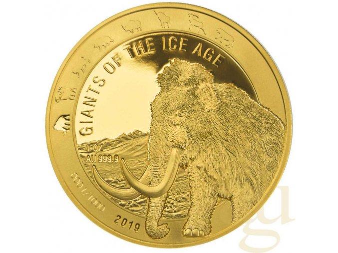 Zlatá mince Mamut 2019-1 Oz
