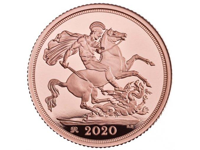 Britský sovereign 2020 proof