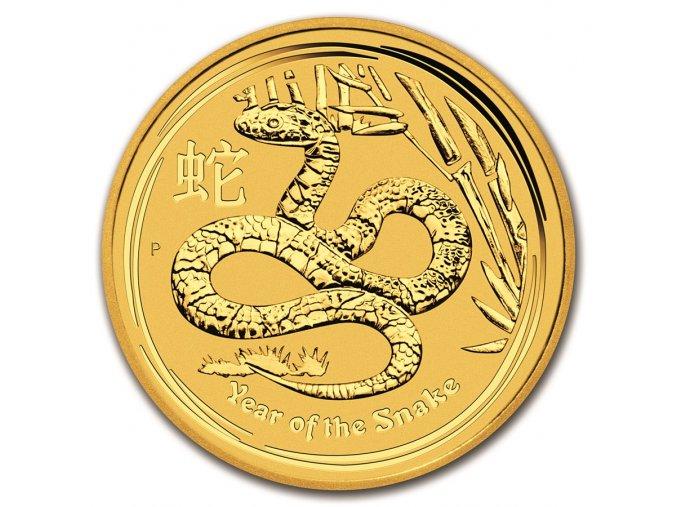 Investiční zlato-zlatá mince rok hada 2013