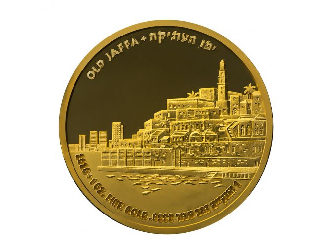 Zlatá mince Old Jaffa -série Ancient Cities 2020 1 Oz