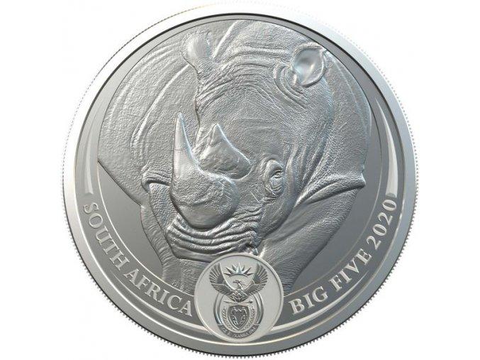 Stříbrná mince nososorožec 1 Oz 2020