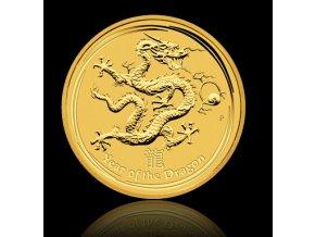 Investiční zlatá mince rok draka 2012 1/2 Oz