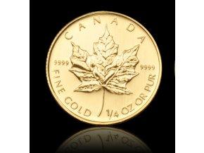 1958 investicni zlata mince kanadsky maple leaf 1 4 oz