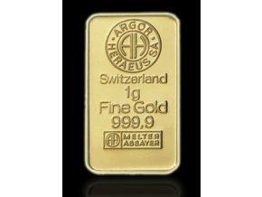 Investiční zlatý slitek Argor Heraeus 1g