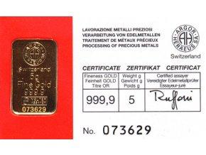 2006 investicni zlata cihla argor heraeus 5g