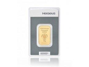 Investiční zlatý slitek Heraeus kinebar 10g