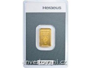 Investiční zlatý slitek Heraeus kinebar 5g