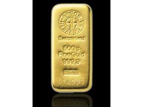 Investiční zlatý slitek Argor Heraeus 500g