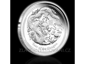 2129 investicni stribrna mince rok draka 2012 1000g