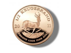 2189 investicni zlata mince krugerrand 1 2 oz