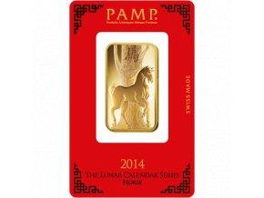 Investiční zlatý slitek PAMP Rok koně  2014 1 Oz