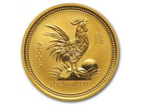 2249 investicni zlata mince rok kohouta 2005 1 2 oz