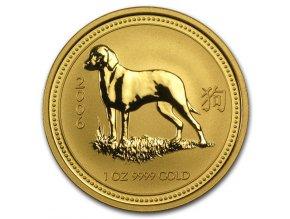 Investiční zlatá mince rok Psa 2006-lunární série I. 1/2 Oz