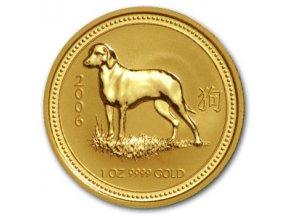 2252 investicni zlata mince rok psa 2006 lunarni serie i 1 2 oz