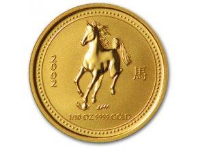 2264 investicni zlata mince rok kone 2002 lunarni serie 1 1 10 oz