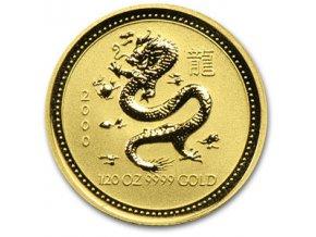 2270 investicni zlata mince rok drak 2000 lunarni serie i 1 20 oz