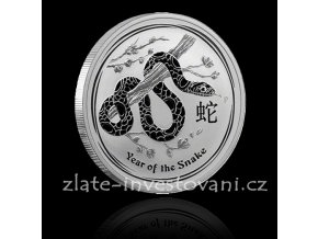 Investiční stříbrná mince rok hada 2013 1000g