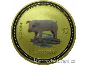 2393 investicni zlata mince rok vepre 2007 1 4 oz