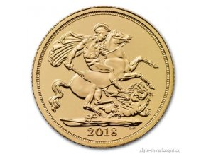 2444 investicni zlata mince britsky sovereign 2018