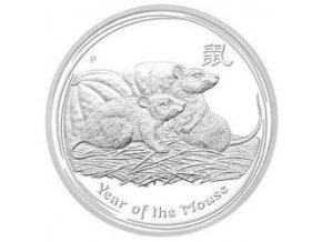2447 investicni stribrna mince rok mysi 2008 1 oz