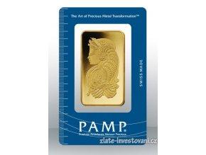Investiční zlatý slitek PAMP Fortuna 50g