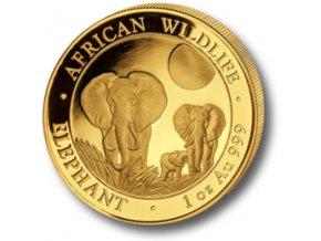 2543 investicni zlata mince somalsky slon 2014 1 oz