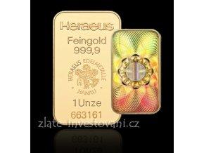 2555 investicni zlata cihla heraeus kinebar 1 oz
