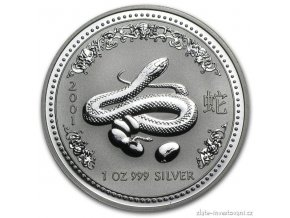Investiční stříbrná mince rok hada 2001 1 Oz