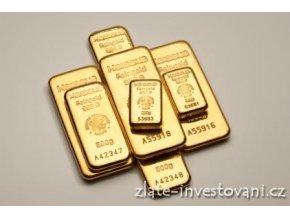 Zlaté investiční slitky Heraeus 5 Kg